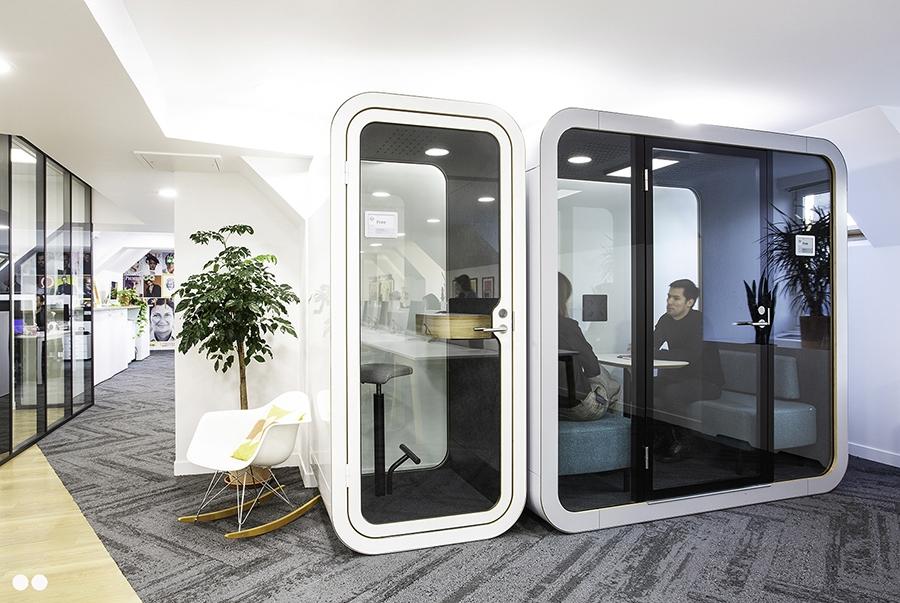 Cabine téléphonique acoustique en open space