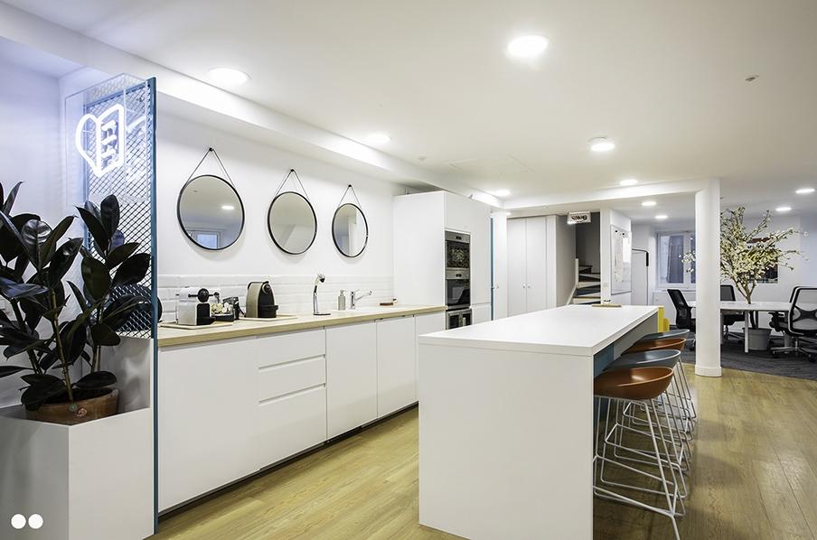 Espace kitchenette en entreprise
