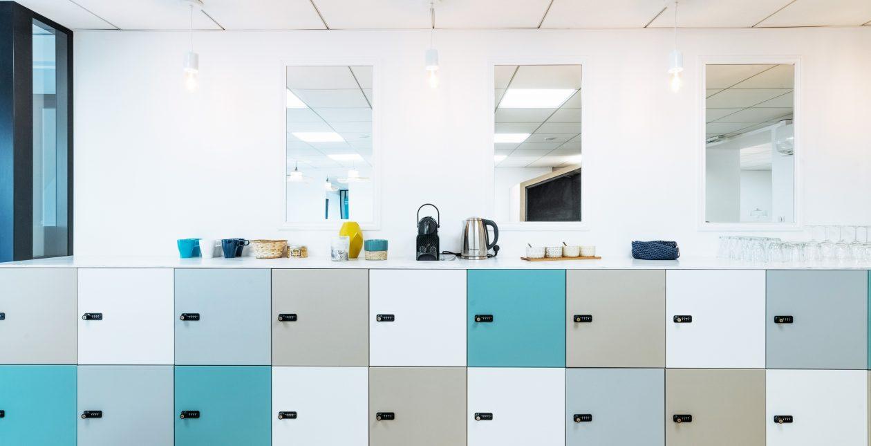 Casiers Open space Flex Office – E-CUBE