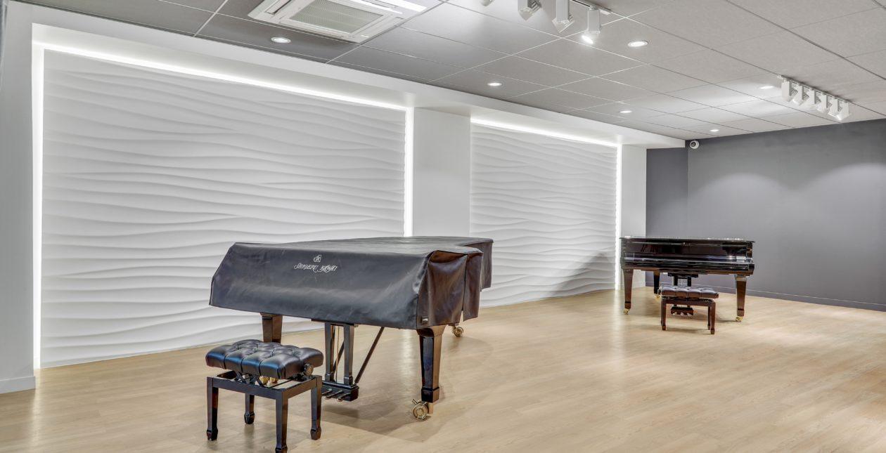 Aménagement showroom professionnel - Piano - Paris
