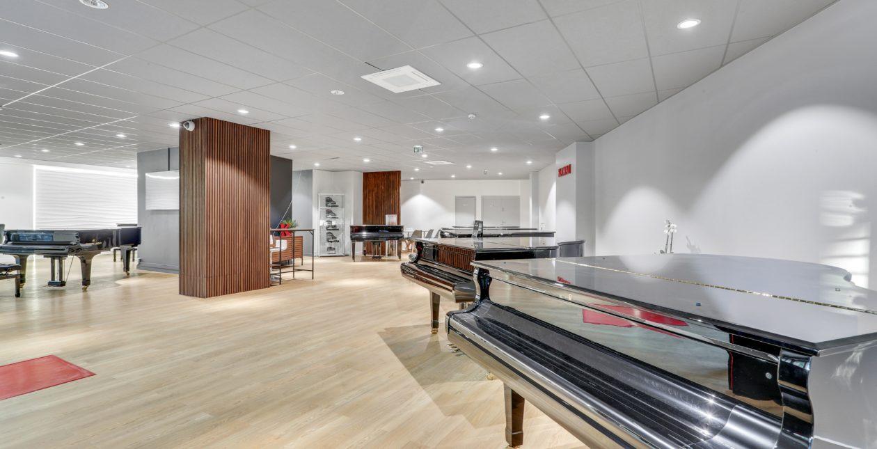 Aménagement showroom Sol PVC - Piano - Paris